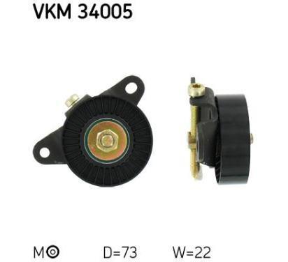 VKM 34005 SKF Rolka napinacza, pasek klinowy wielorowkowy, Micro-v