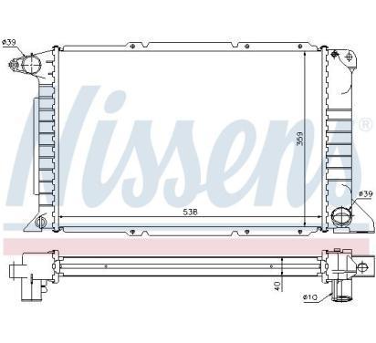 62080A NISSENS Chłodnica, układ chłodzenia silnika