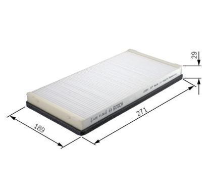 1 987 432 022 BOSCH Filtr, wentylacja przestrzeni pasażerskiej