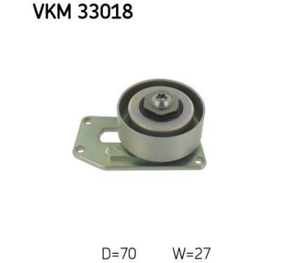 VKM 33018 SKF Rolka napinacza, pasek klinowy wielorowkowy, Micro-v