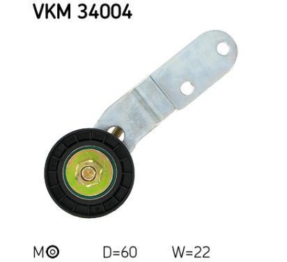 VKM 34004 SKF Rolka napinacza, pasek klinowy wielorowkowy, Micro-v