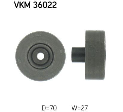 VKM 36022 SKF rolka kierunkowa / prowadząca, pasek klinowy zębaty, Micro-v
